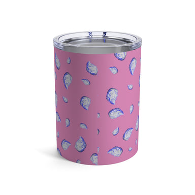 """Oysterfest"" Pink Tumbler 10oz - College Collections Art"