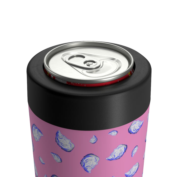 """Oysterfest"" Pink Can Holder - College Collections Art"