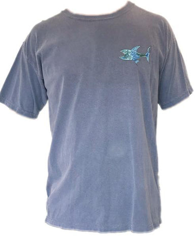 """Grateful- Shark"" Short Sleeve Tee - College Collections Art"