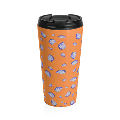 """Oysterfest"" Stainless Steel Travel Mug"