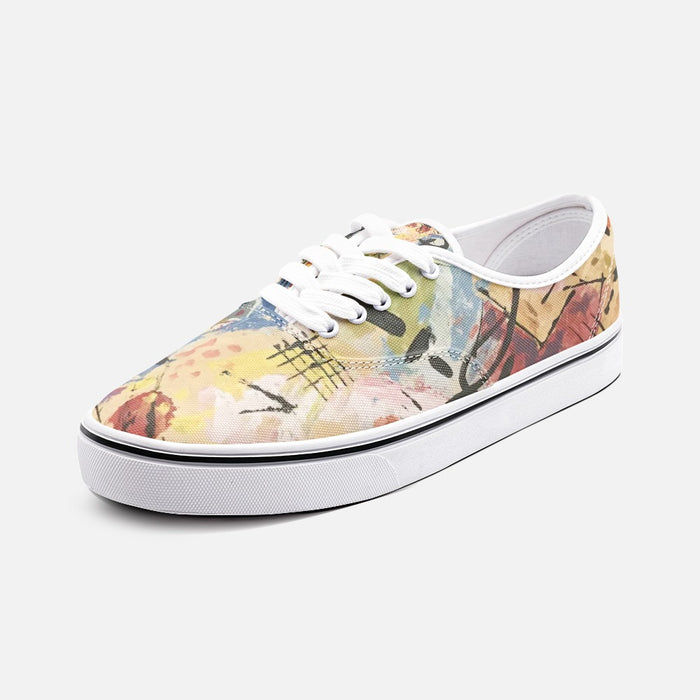 """Andy Warhol Recreation""  Canvas Shoes Fashion Low Cut Loafer Sneakers - College Collections Art"