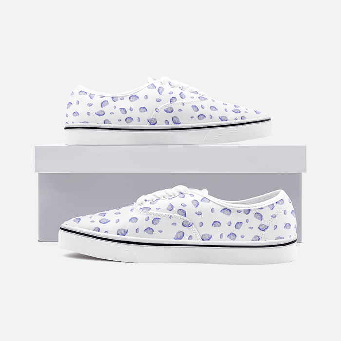 """Oysterfest"" White Low Cut Loafer Sneakers - College Collections Art"