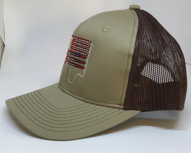 Fishing Pole Flag Trucker Hat