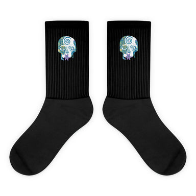"""Tropical Skull"" Socks - College Collections Art"