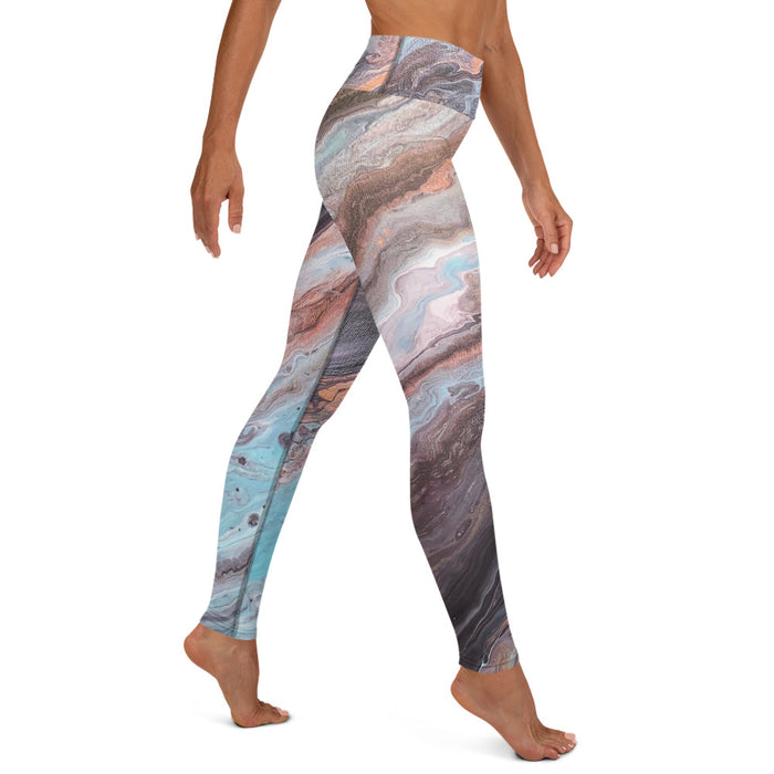 """Royal Blood"" Yoga Leggings - College Collections Art"