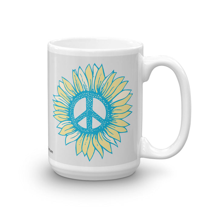 """Peace-flower"" Mug - College Collections Art"