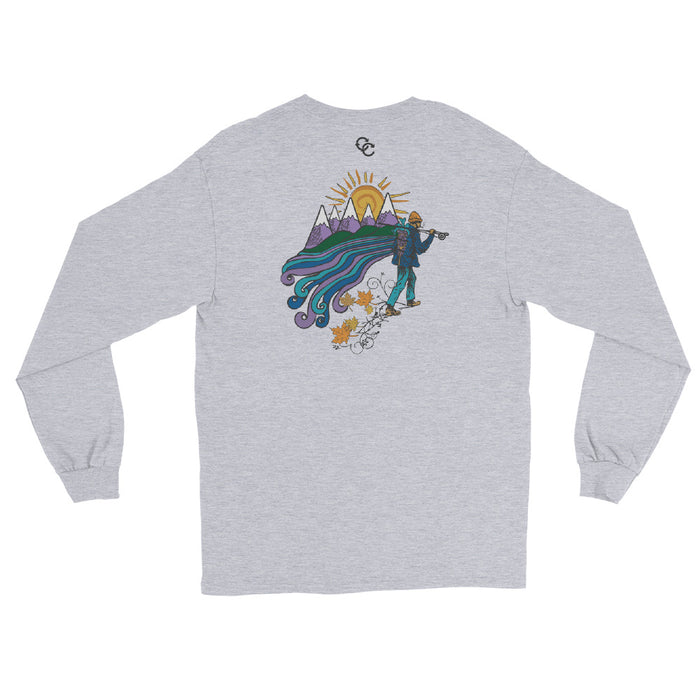 """Hike"" Men's Long Sleeve Shirt - College Collections Art"