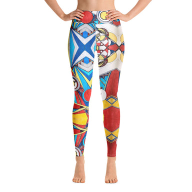 """Geo Therapy Three"" Yoga Leggings - College Collections Art"