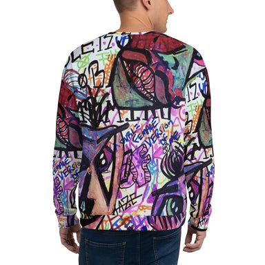 """Faces"" Unisex Sweatshirt - College Collections Art"