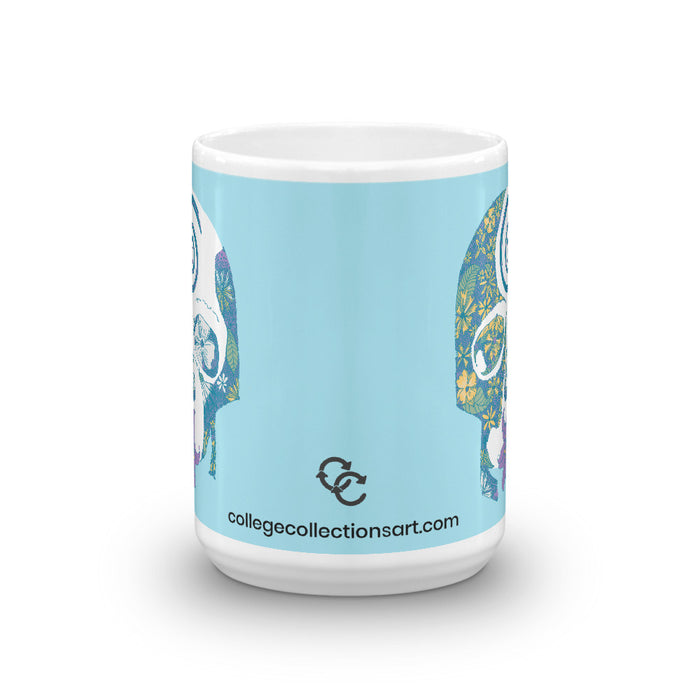 """Tropical Skull"" Mug - College Collections Art"