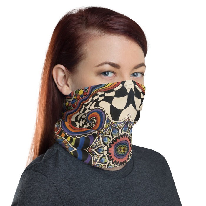 """Zenfuldellic"" Neck Gaiter - College Collections Art"