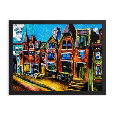 """Pittsburg Cityscape"" Print Framed poster - College Collections Art"