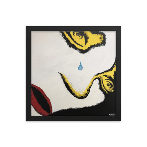 """Crying"" Framed photo paper poster"