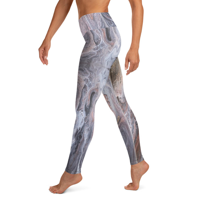 """Silk River  (2/3)"" Yoga Leggings - College Collections Art"
