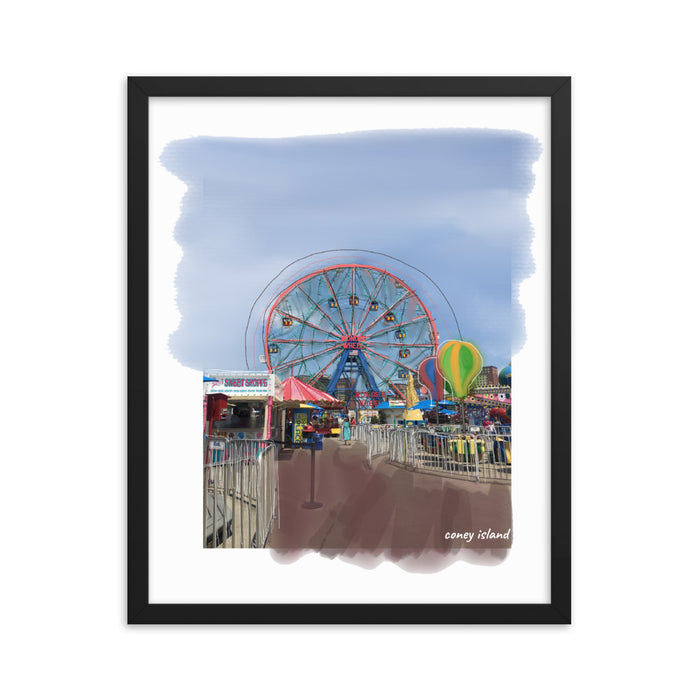 """Coney Island"" Print - College Collections Art"