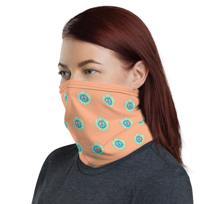 """Little Peace -Flowers"" Neck Gaiter - College Collections Art"