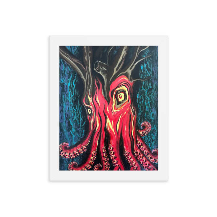 """Octotree"" Print Framed Poster - College Collections Art"