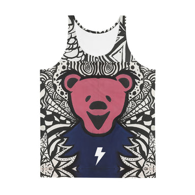 """Dead Bear Zen Tangle"" Tank Top - College Collections Art"