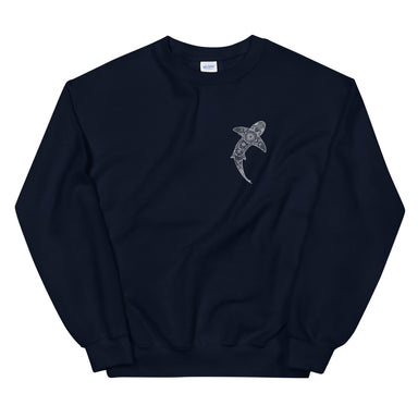 """Tribal Shark"" Unisex Sweatshirt - College Collections Art"