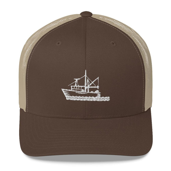 """Fishing Boat"" Mesh Snapback - College Collections Art"