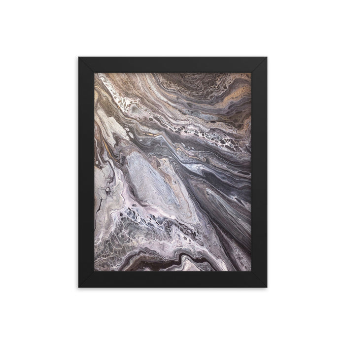 """A Rocky Road"" Framed poster - College Collections Art"