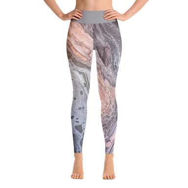 """Silk River  (3/3)"" Yoga Leggings - College Collections Art"