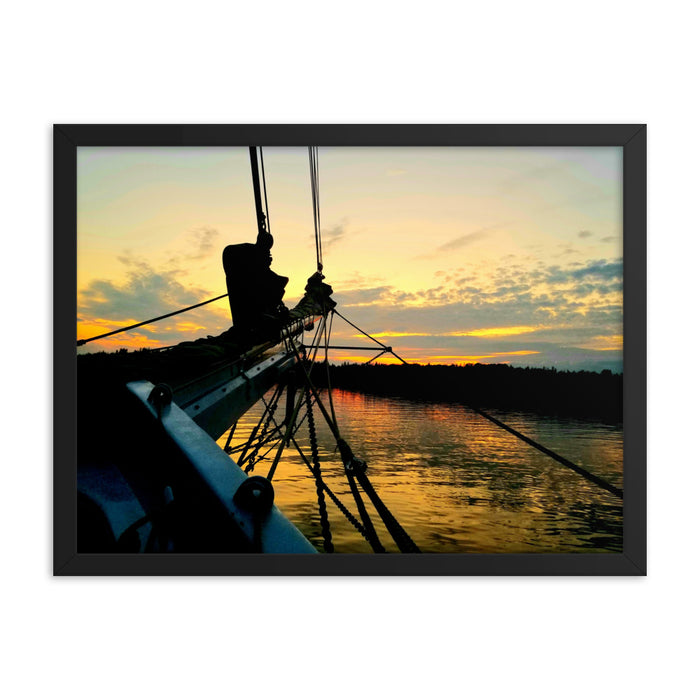 """Sailboat Sunset"" Framed poster - College Collections Art"