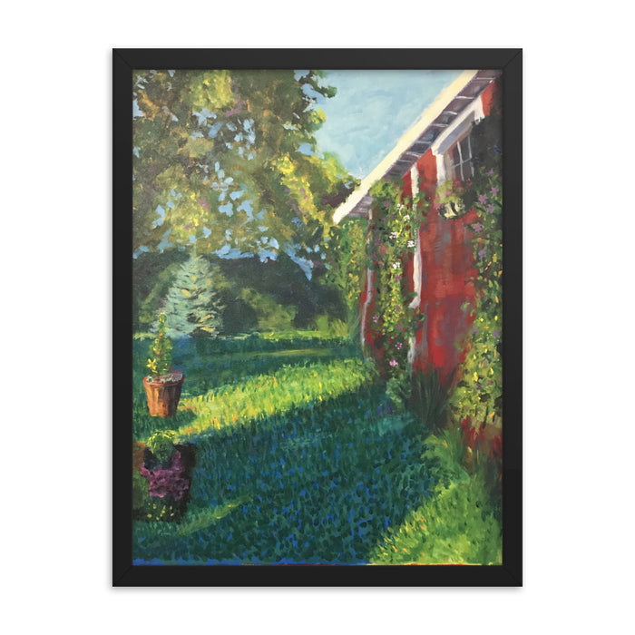 """The Barn"" Print Framed Poster - College Collections Art"
