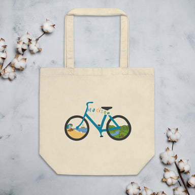 """Madison Bike"" Eco Tote Bag - College Collections Art"