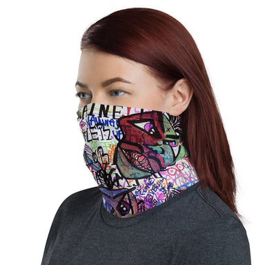 """Faces"" Neck Gaiter - College Collections Art"