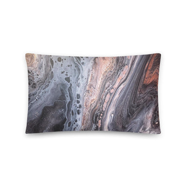 """Silk River (3/3)"" Basic Pillow - College Collections Art"