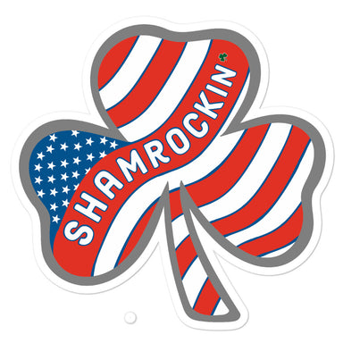 """Shamrockin'"" Bubble-free stickers"