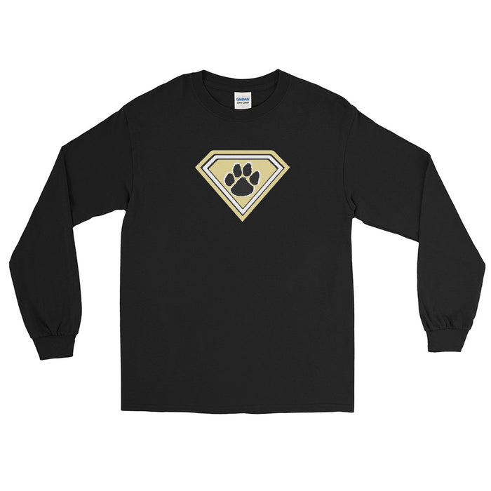 """Super Tiger""  Long Sleeve T-Shirt - College Collections Art"