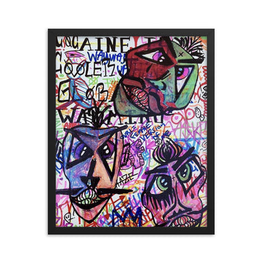"'Faces"" Framed poster - College Collections Art"