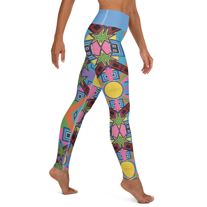 """New Wave"" Yoga Leggings - College Collections Art"