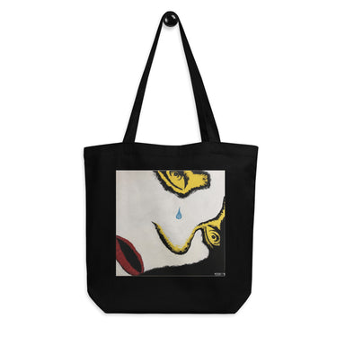 """Crying Face"" Eco Tote Bag - College Collections Art"