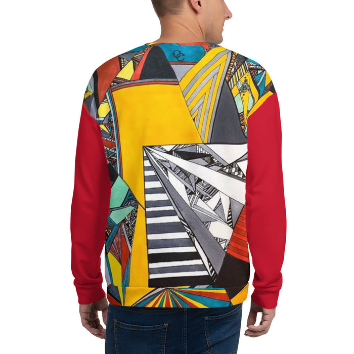 """Geo Therapy Two"" Unisex Sweatshirt - College Collections Art"