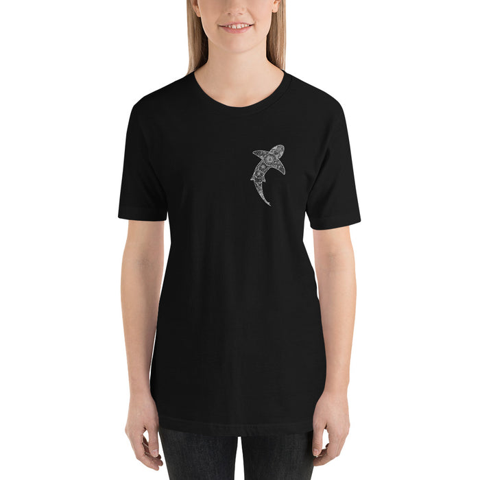 """Tribal Shark"" Short-Sleeve Unisex T-Shirt - College Collections Art"