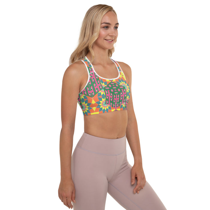 """Mentalism"" Padded Sports Bra - College Collections Art"
