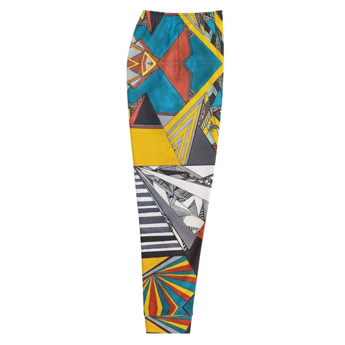 """Geo Therapy Two"" Joggers - College Collections Art"
