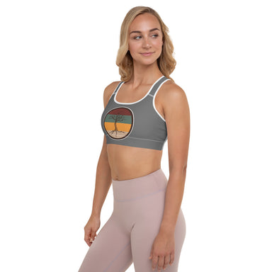 """Leafless"" Padded Sports Bra - College Collections Art"
