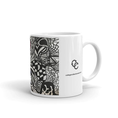 """Dead Bear Zen Tangle"" Mug - College Collections Art"