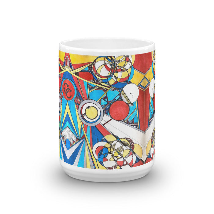"""Geo Therapy Three"" Mug - College Collections Art"