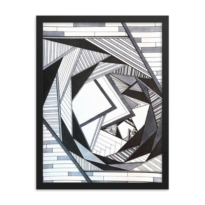 """Geo Therapy Four"" Framed poster - College Collections Art"