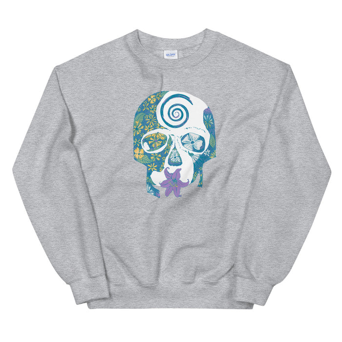 """Tropical Skull"" Crewneck - College Collections Art"