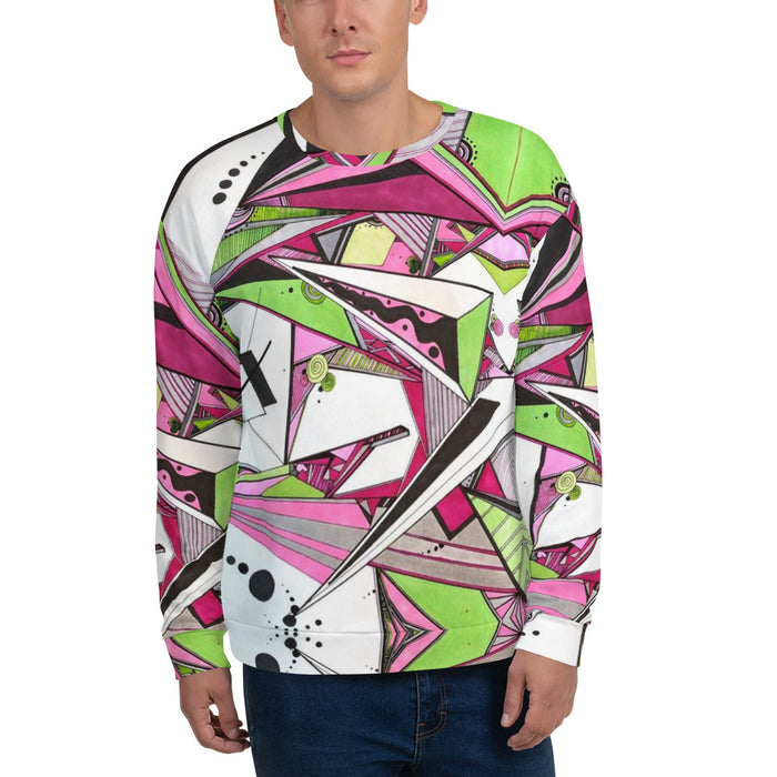 """Geo Therapy Five"" Unisex Sweatshirt - College Collections Art"