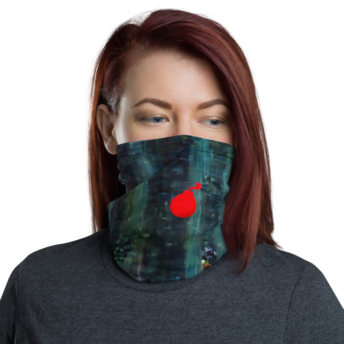 """Bombs Away"" Neck Gaiter - College Collections Art"
