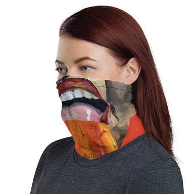 """Vermillion"" Neck Gaiter - College Collections Art"