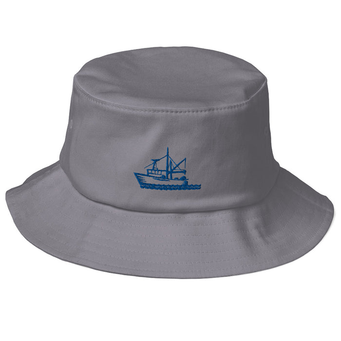"""Fishing Boat"" Bucket Hat - College Collections Art"