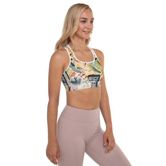"""Andy Warhol Recreation"" Padded Sports Bra - College Collections Art"
